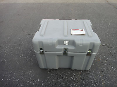 "PELICAN CASE STORAGE BOX GREY COLOR HEAVY DUTY INDOOR OUTDOOR 24""x18""x18""height"