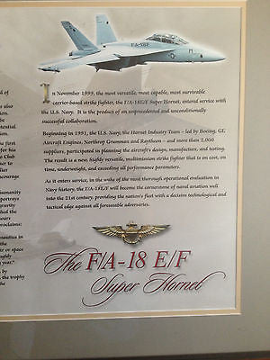 AIR FORCE MILITARY POSTER STORY OF COLLIER TROPHY F/A-18 E/F SUPER HORNET