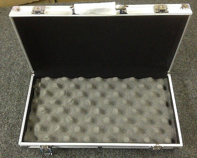 "Small Aluminum Clad Carry Storage Case Box 14.5""x7.5""x2.25"" for campus work"