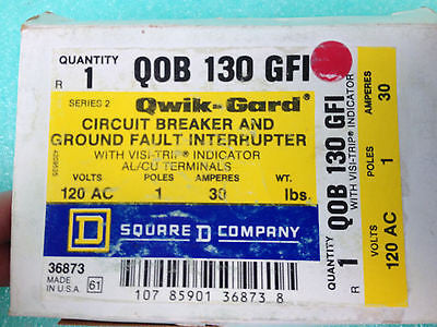 ___SOLD OUT!!!__LOT OF 2 NEW, Square D QOB130GFI (QOB 130 GFI) Circuit Breaker *RA-3
