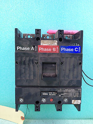 Used, General Electric TJJ436300 Circuit Breaker 300 Amp 3 Pole 600 V   *RA-4