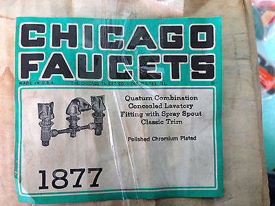 NEW CHICAGO FAUCETS 1877 *RA-5