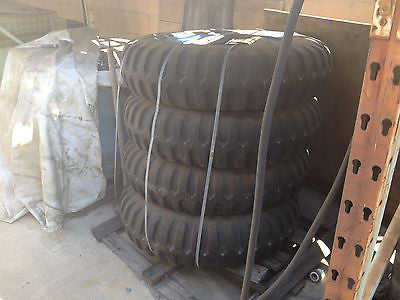 LOT OF 4 TRAILER TIRES (?)