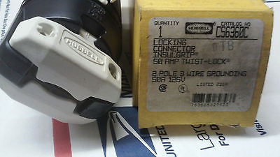 HUBBELL C56360C LOCKING CONNECTOR 50 AMP TWIST LOCK *RA-6