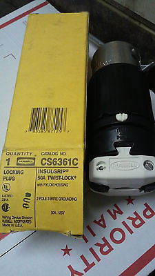 HUBBELL CS6361C LOCKING CONNECTOR 50A 125V TWIST LOCK MADE IN USA *RA-7