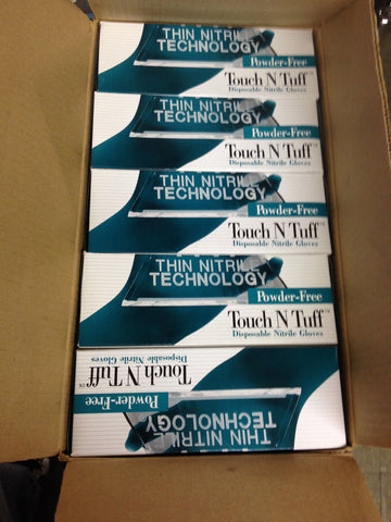 USA CASE/10 BOXES GLOVES ANSELL 92-600 Small TOUCH N TUFF NITRILE disposable
