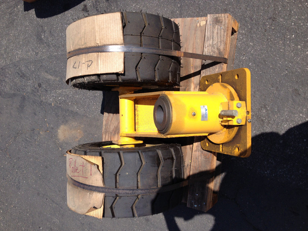 Wheel base Aerol W/ superlug 18x9 8NHS Pneumatic TIRES AMERICA Castor (R)