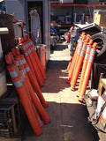 Lot of 20 TRAFFIC SAFETY TALL SLIM POLE STYLE SPACE SAVER CONES reflective (R)