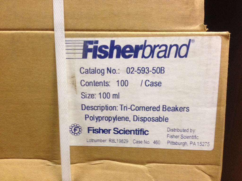 FISHERBRAND 02-593-50B 100 PIECEES IN A CASE (SIZE 100 ML) FISHER SCIENTIFIC