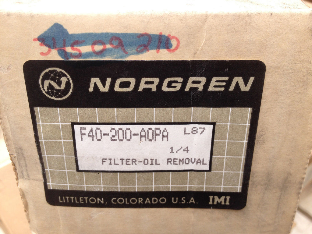Norgren Air Oil Removal Filter F40-200-AOPA F40200AOPA (R)