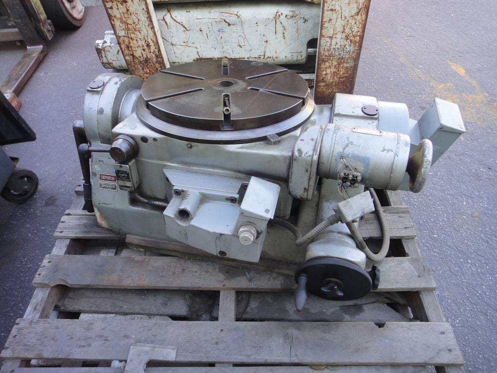 "Made in Germany, ELEKTROMOTORENFABRIK MACHINERY ROTARY TABLE DIAMETER 16"" (R)"