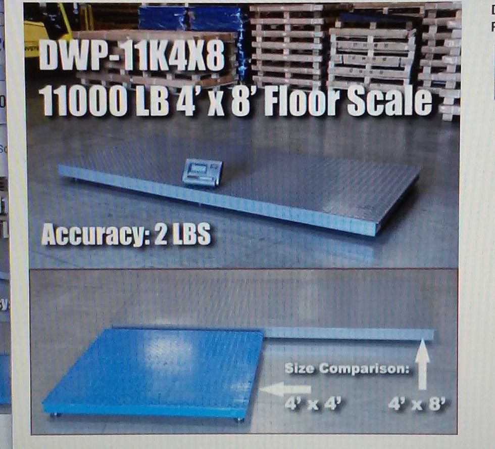 dwp-11k4x8 DIGIWEIGH DWP-11K 4' X 8' FLOOR SCALE 10000LB/1LB