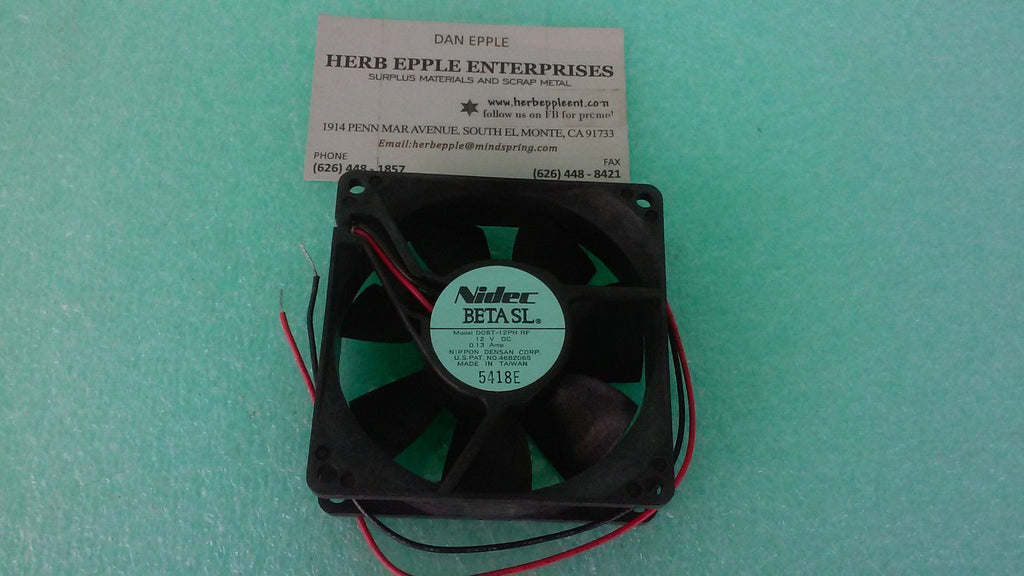 100 NEW NIDEC Beta SL Server Cooling Fan 12V 35 CFM 80mm D08T-12PH RF