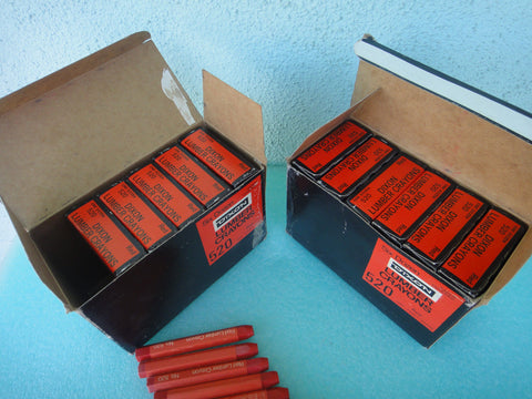 12 Dozen Dixon 520 Paper Covered Red Lumber Crayons *RA-2 (UW 44)