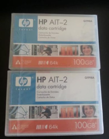 2 NEW, HP Q1998A AIT-2 Cartridge 100GB