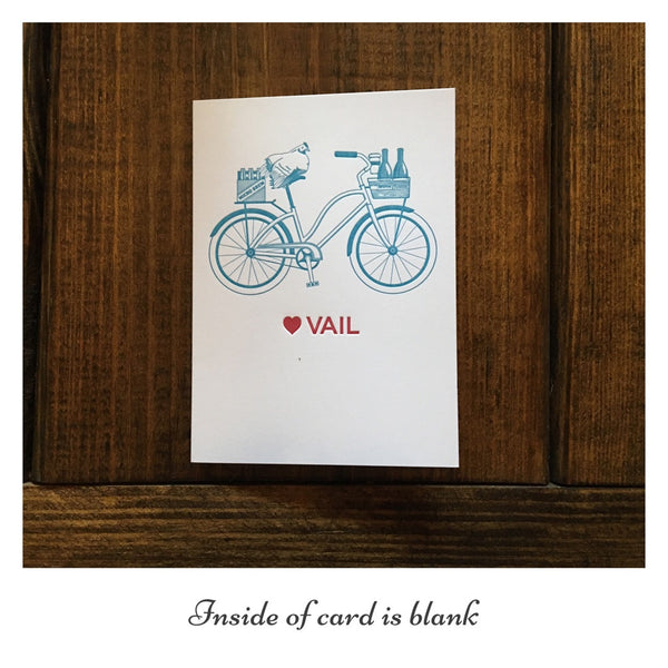 Waterknot Vail Love Bicycle Card