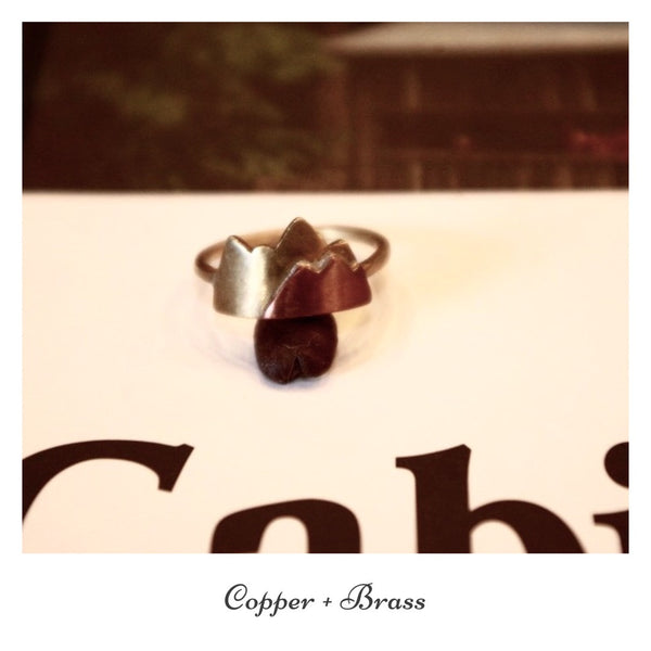 Mountain Range Ring Copper + Brass
