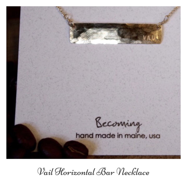 Becoming Vail Horizontal Bar Necklace