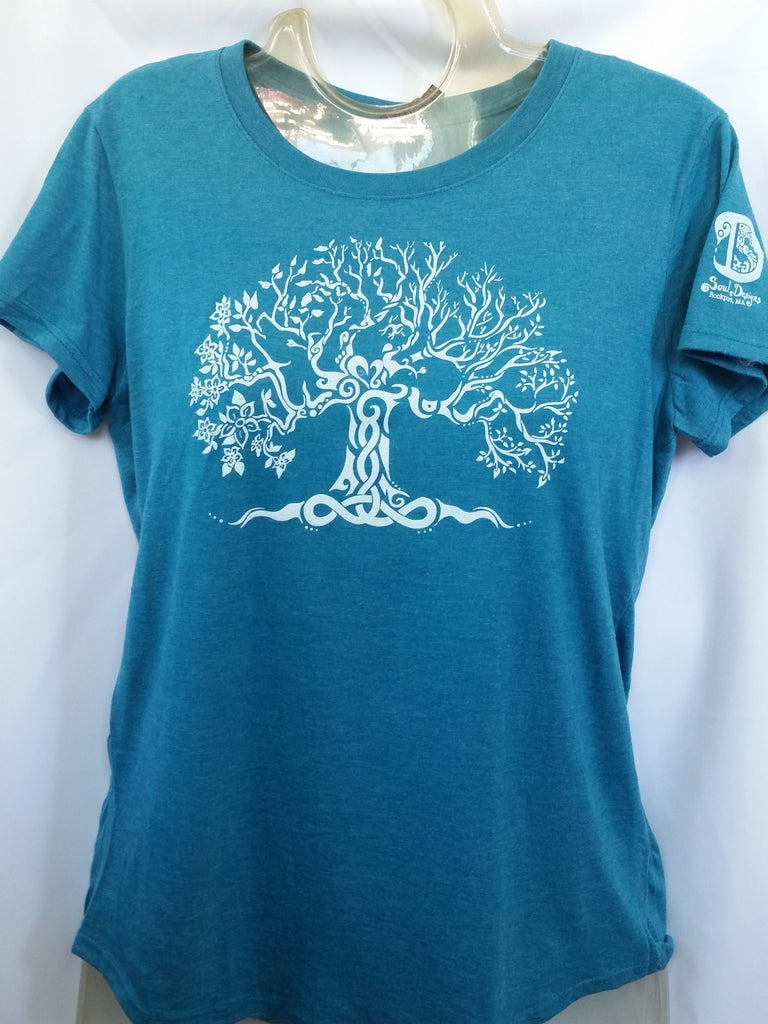 Tree of Life T-Shirt - Carribean Blue