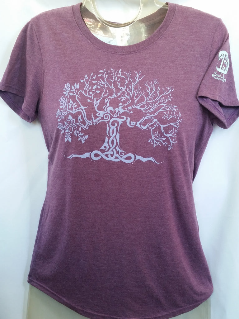 Tree of Life T-Shirt -Heather Aubergine