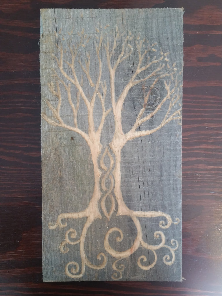 Rustic Tree of Life- hand carved