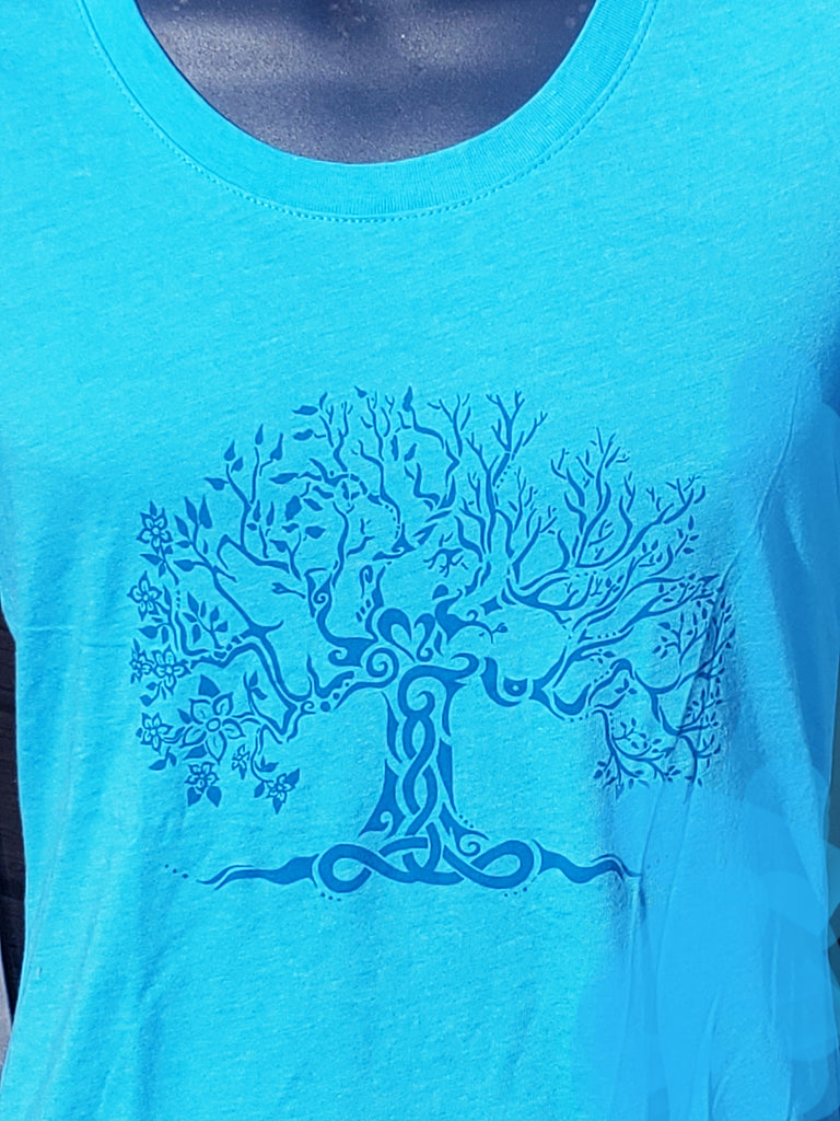 Tree of Life T-Shirt - Turquoise