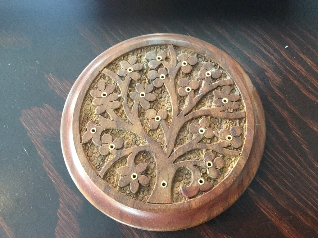 Wooden Tree of Life Incense Burner