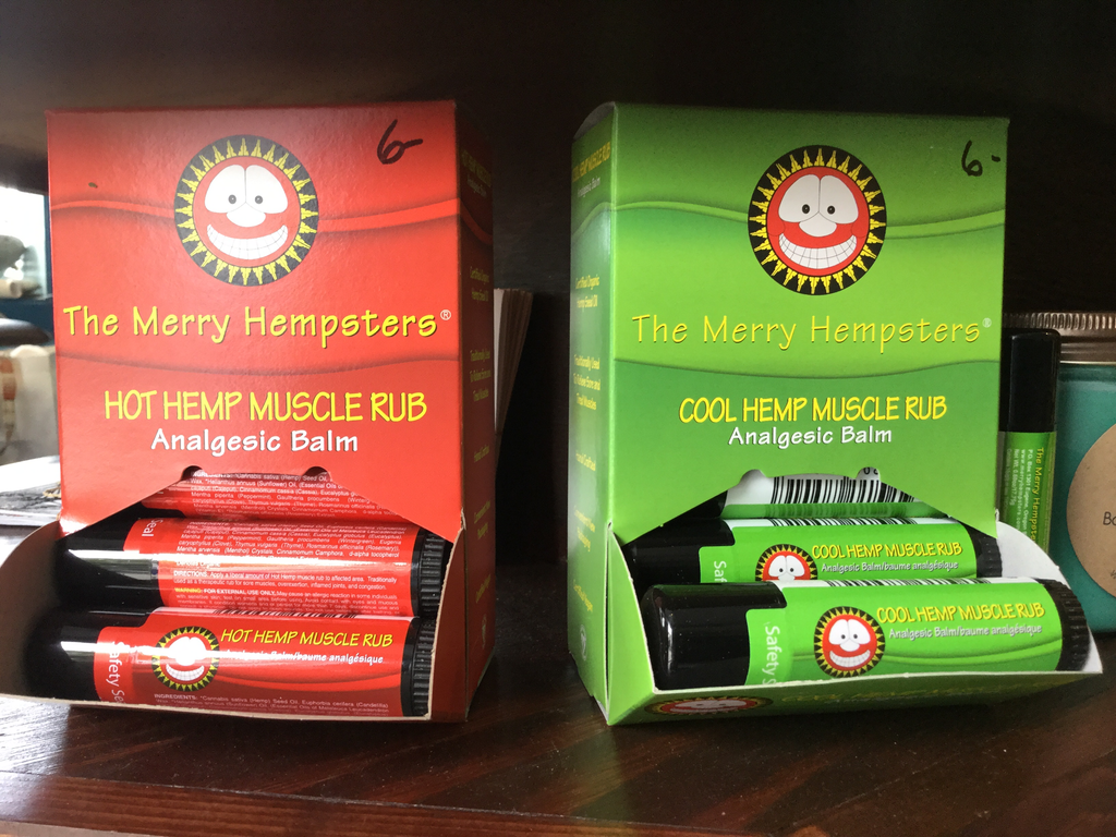 Hemp muscle rub balm