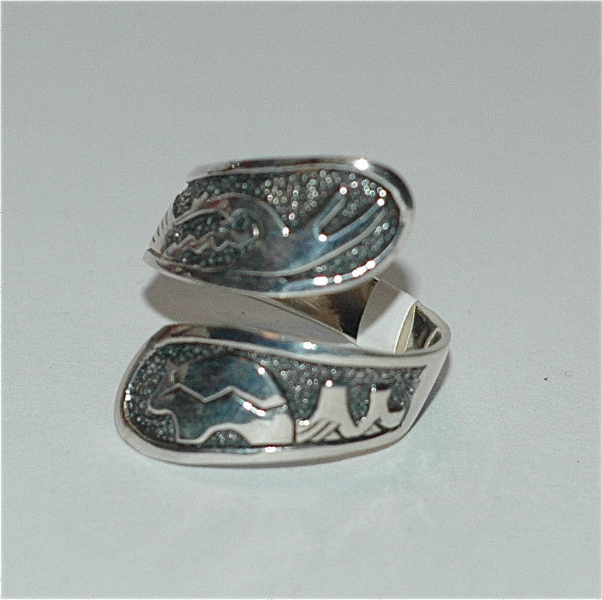 Adjustable Ring- Native American Design - Soulstice Shop