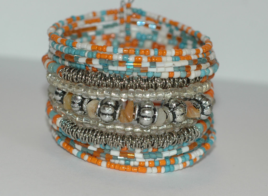 Beaded Bracelet-Turquoise mix - Soulstice Shop