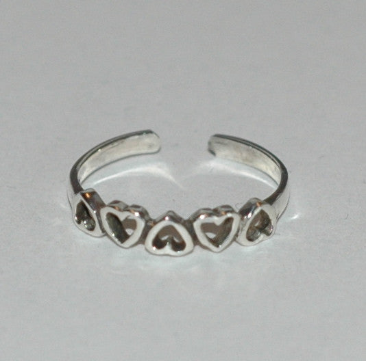 Hearts Toe Ring - Soulstice Shop