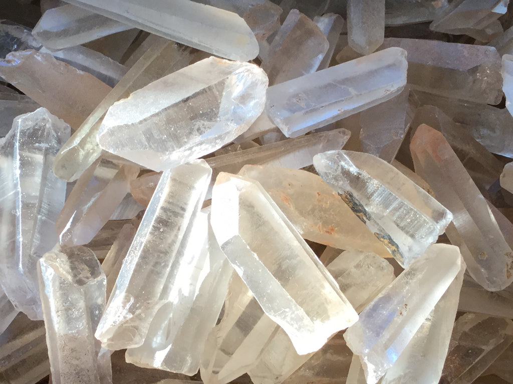 Five Lemurian Starseed crystal points directly from the Miner!