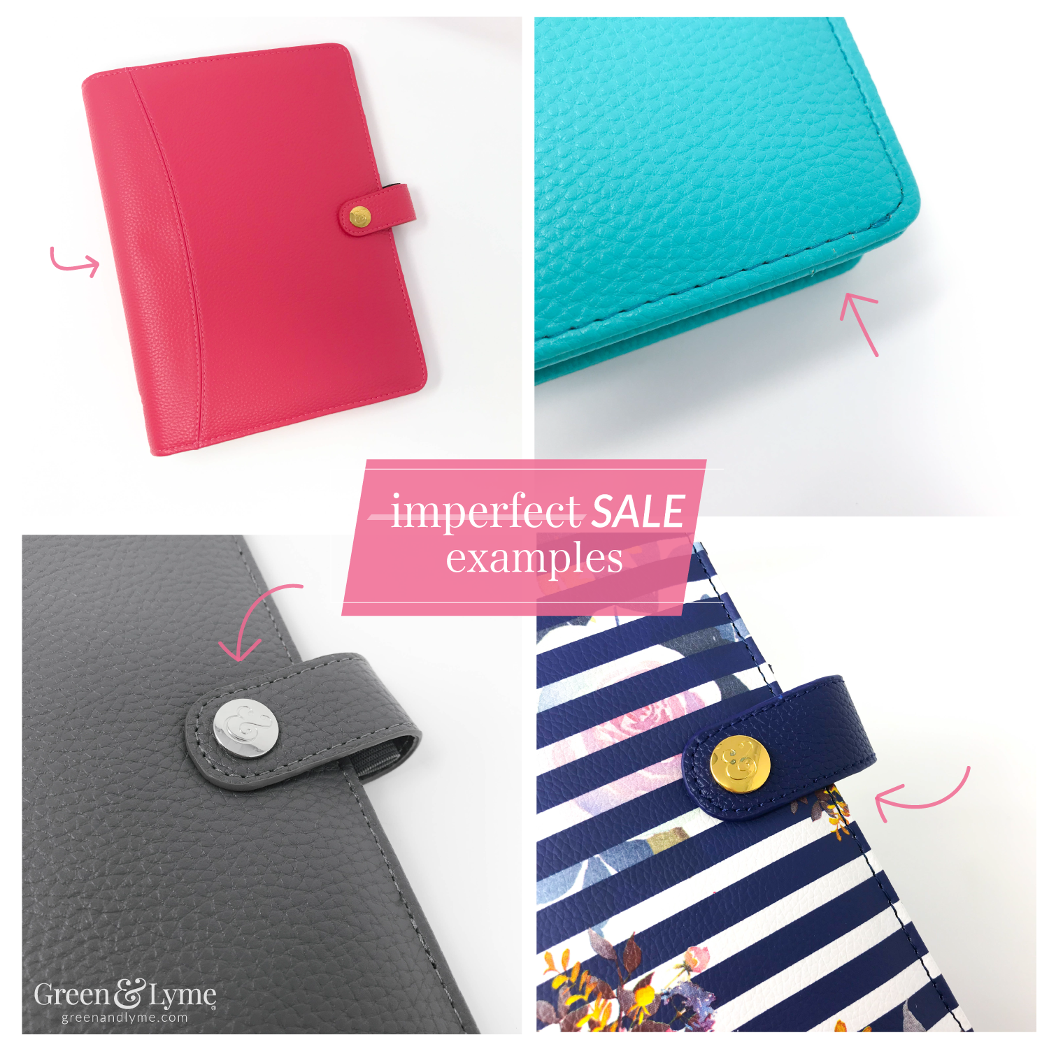 Green and Lyme Imperfect Planner Sale
