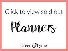 sold out green & lyme planners