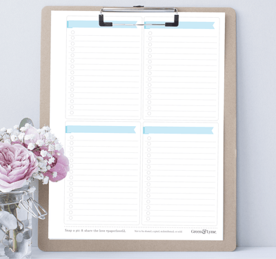 Check It Off: Printable Task List