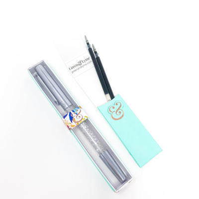 Imperfect Galaxy Spark Pen: Silver Crystal Gel Pen