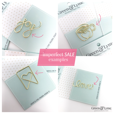 Imperfect Wine Glass Paper Clip