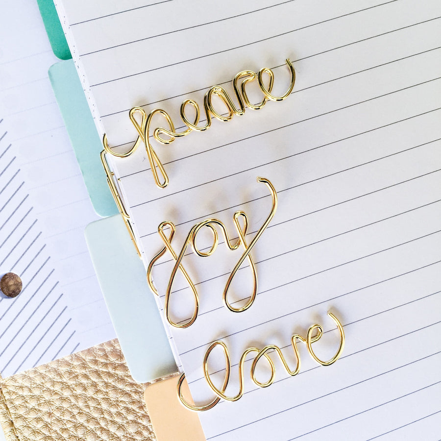 Imperfect Joy Paper Clip: The Original Joy Script Paper Clip