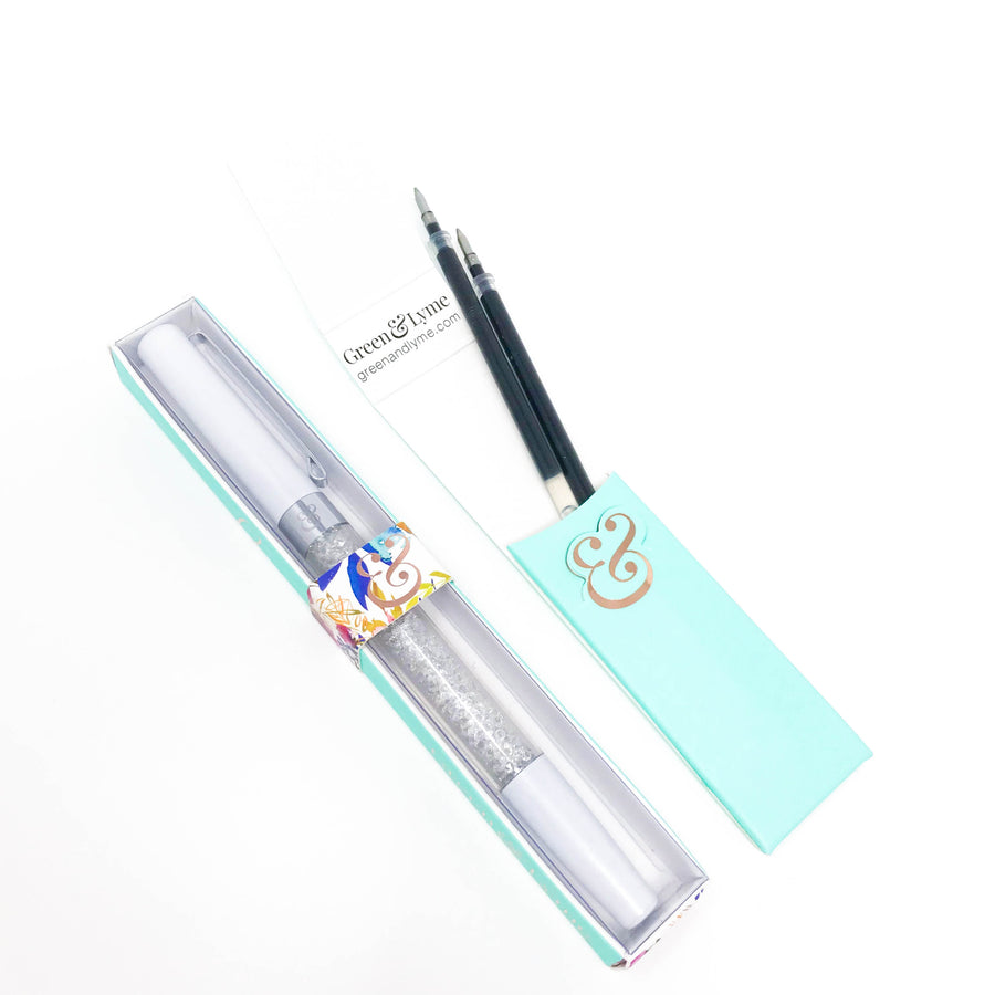 Halo Spark Pen: Pearl White Crystal Gel Pen