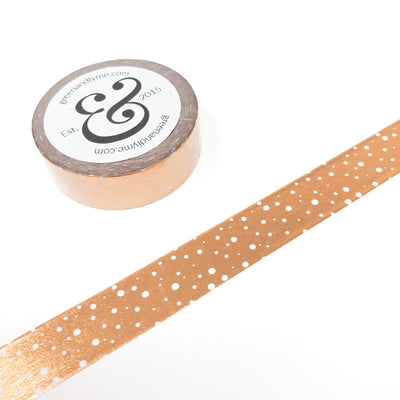 Rose Gold Spotted Washi Tape