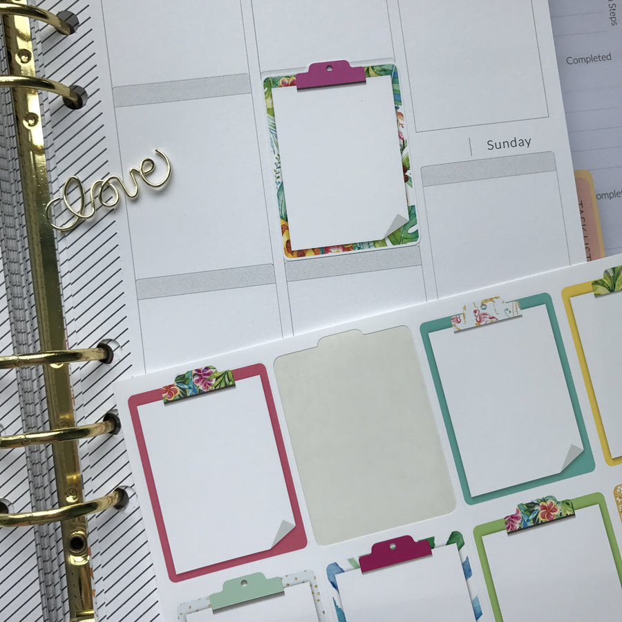 Clipboard Stickers - Paradise Summer