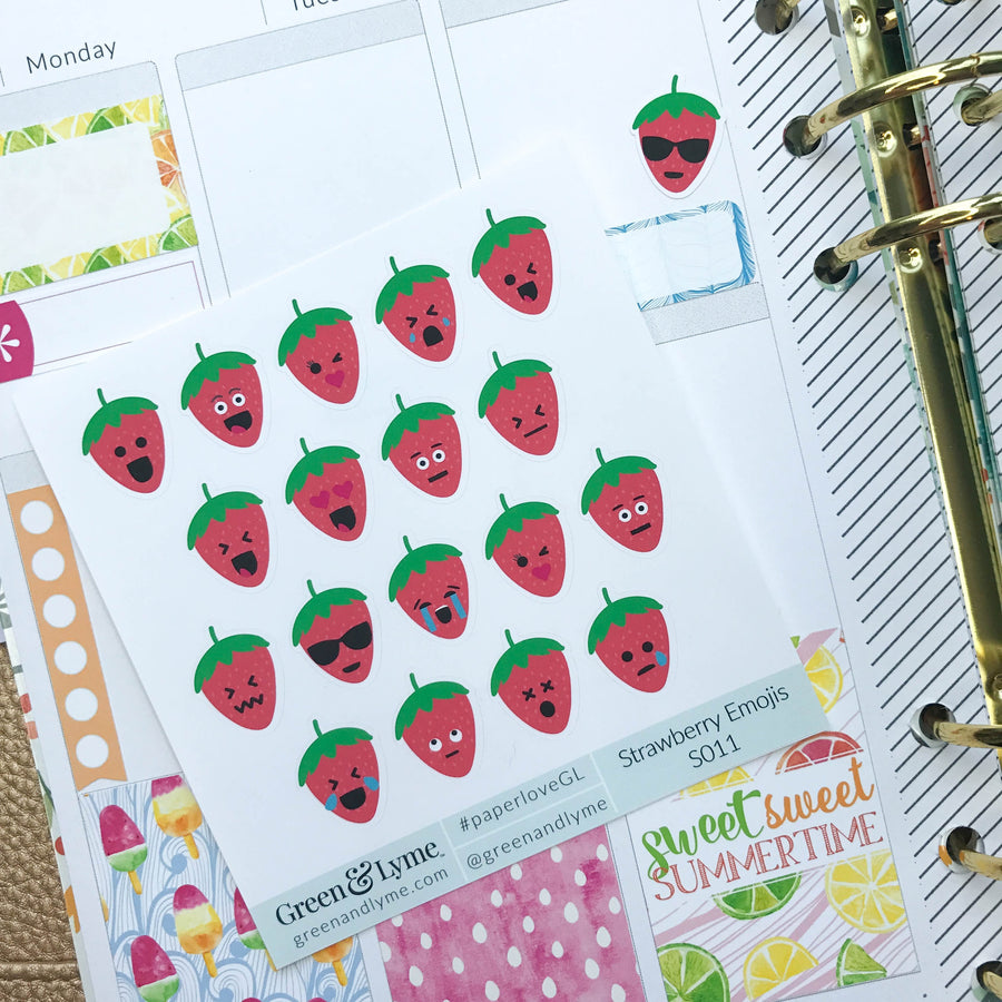 Strawberry Emoji Minis