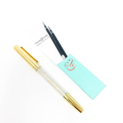 Midas Spark Pen: Gold Crystal Gel Pen