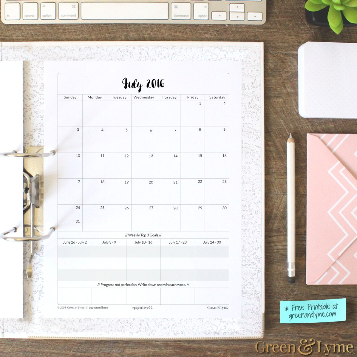 Goal Planner: Monthly & Weekly