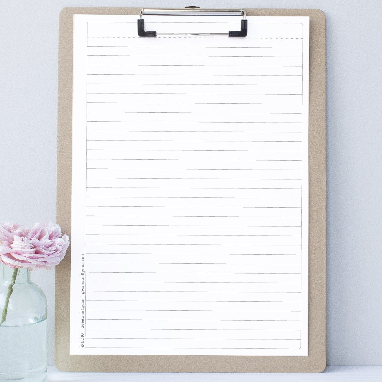 graphic relating to Free Printable Notes Page known as Printable Covered Notepaper - Inexperienced and Lyme