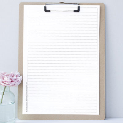 Printable Lined Notepaper