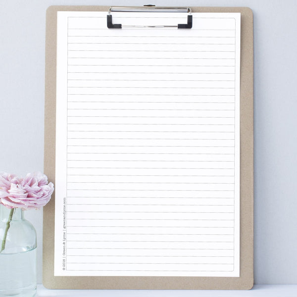 picture relating to Free Printable Note Paper called Printable Coated Notepaper - Environmentally friendly and Lyme