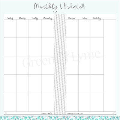 Monthly Pages: Personal Refills