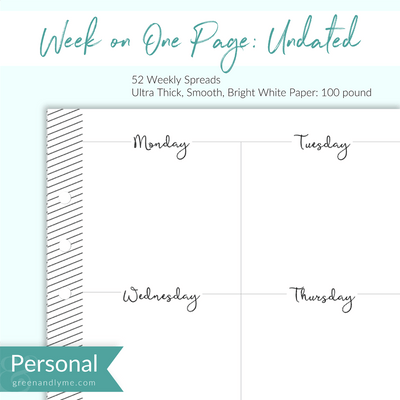 Week on One Page: Personal Refills