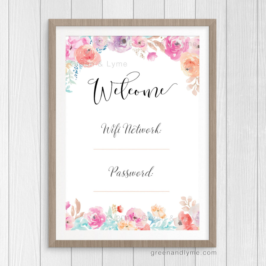 Printable Wall Art: Wifi Password Print